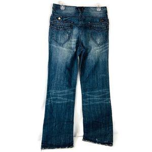 Guess Men's Distressed Paint Davis Boot Cut Jeans
